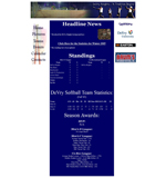 DeVry Softball Website